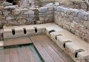 The Romans public Toilets